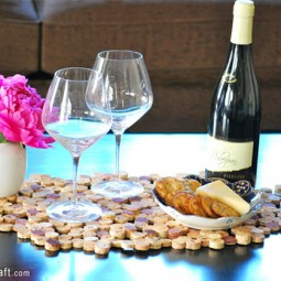 Diy project tutorial wine cork upcycle table setting placemat runner.jpg