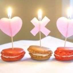 ... Ideen Zum Valentinstag Kerzen Romantik Suessigkeiten ...