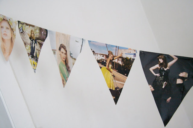Make party decoration out of old fashion magazines.jpg