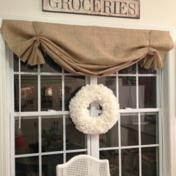 No sew burlap window valance.jpg