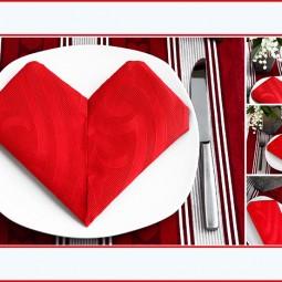 servietten falten zum valentinstag. Black Bedroom Furniture Sets. Home Design Ideas