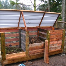 3 bin compost system using wood metal and wire.jpg