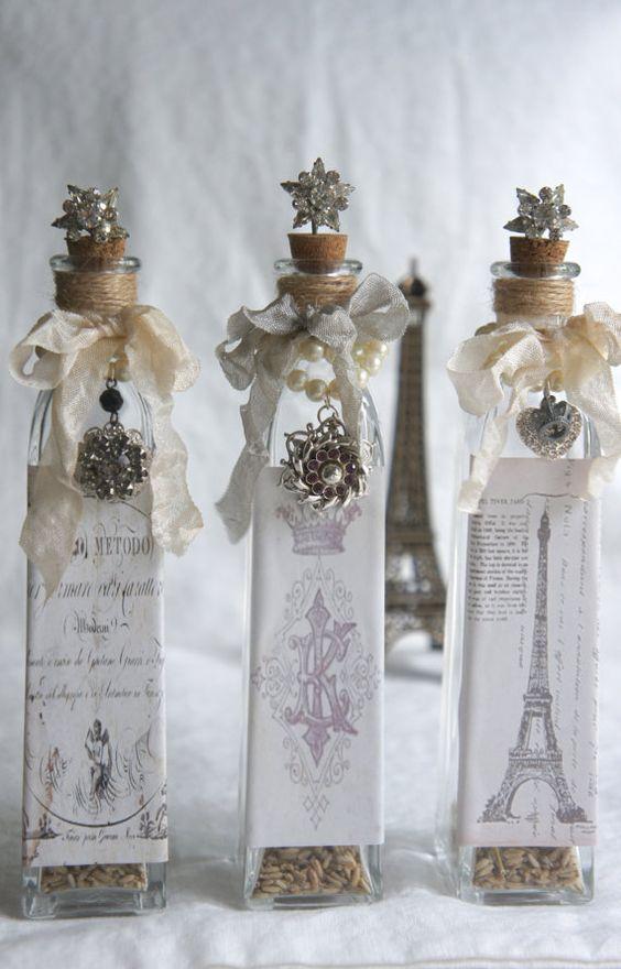 Vintage deko aus alten glasflaschen - Sweet home decora ...