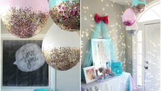 Basteln luftballons glitzern deko basteln mit kindern selbermachen.jpg