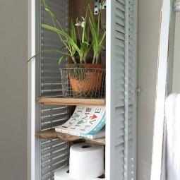 Bathroom shelf made from shutters.jpg