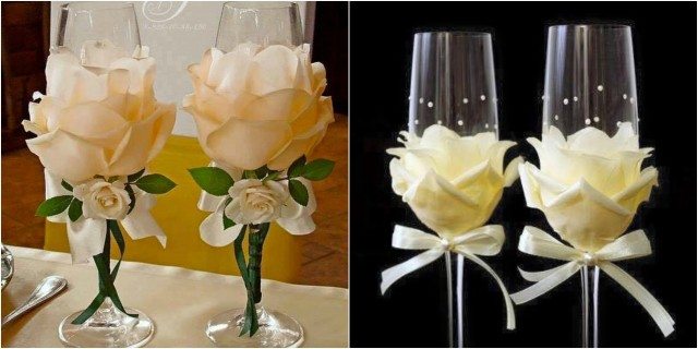Weingläser Dekorieren weingläser mit kunstblumen kreativ dekorieren nettetipps de