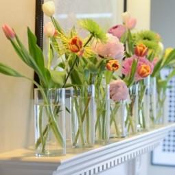 Blumen deko ideen tulpen kaminsims glasvasen.jpeg