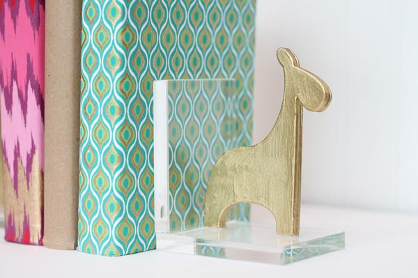Create these sleek modern cute bookends.jpg