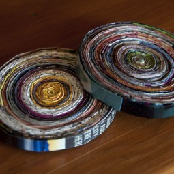 Create woven magazine coasters.jpg