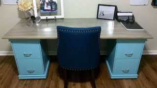 Diy filing cabinet desk diy home decor home office.jpg