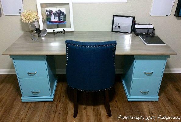 Diy filing cabinet desk diy home decor home office.jpg