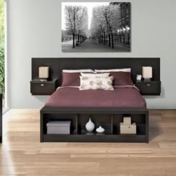 Idee originale tete de lit bois noir king size.jpg