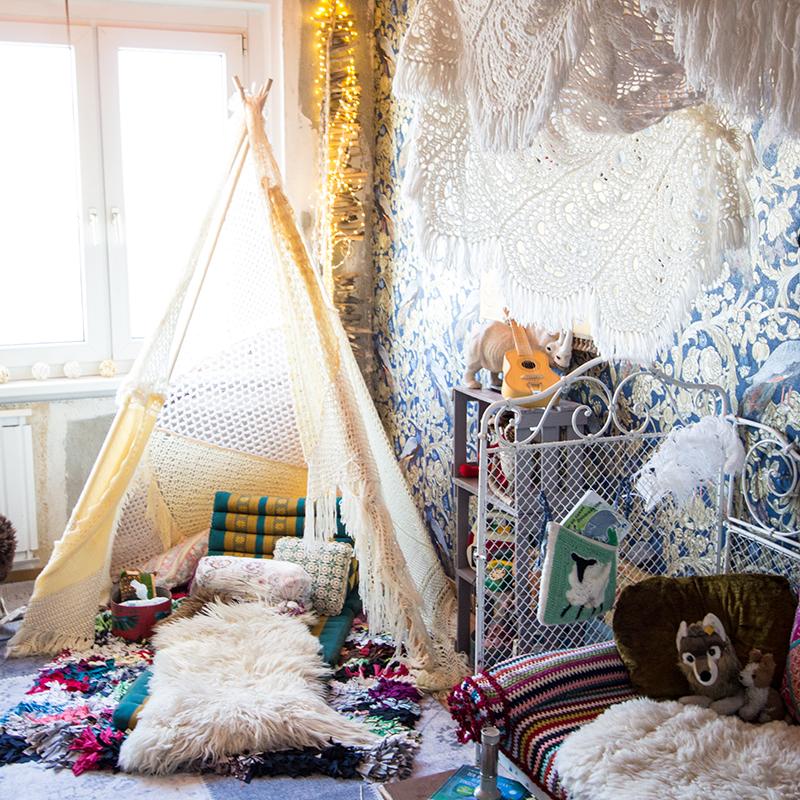 wunderbare kinderzimmer im boho style. Black Bedroom Furniture Sets. Home Design Ideas