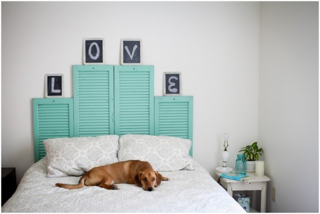 Make a gorgeous headboard with old shutters.jpg