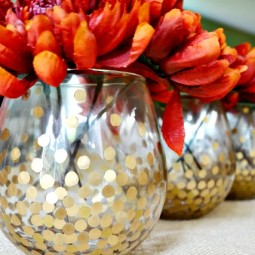 Make these simple but chic gold dot vases.jpg