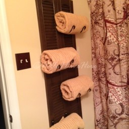 Make this functional diy shutter towel rack.jpg