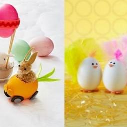 Ostereier dekorieren kuecken mit federn ideen fuer kleine tierchen.jpg