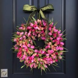 Pink tulip spring wreath stunning 1.jpg