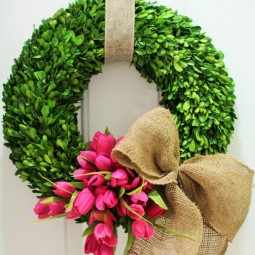 Tulip boxwood wreath would love this for my front door 1.jpg