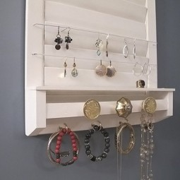 Turn a discarded shutter into the perfect spot to store your jewelry.jpg