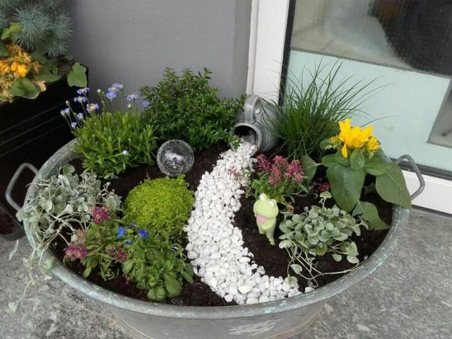 Zinkwanne weitere tolle ideen for Garten bepflanzen ideen