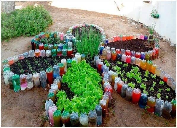 Garten Diy Aus Plastikflaschen Und Autoreifen Nettetippsde