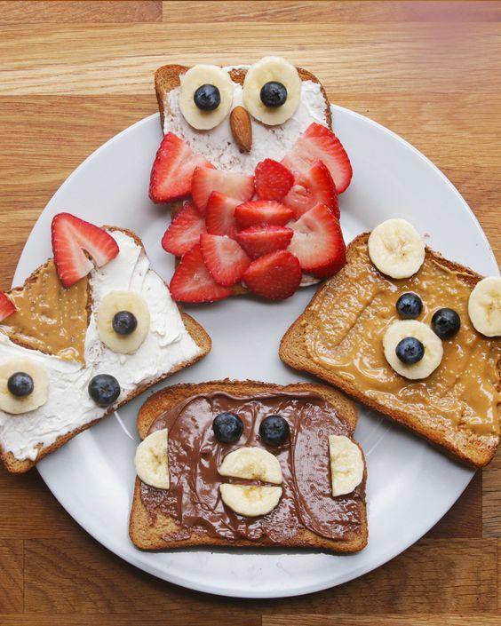 Lustige Sandwiches und belegte Brote für eure Kinder