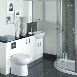 kleine badezimmer praktisch einrichten. Black Bedroom Furniture Sets. Home Design Ideas