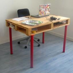 diy schreibtische aus paletten :p - nettetipps.de - Paletten Schreibtisch