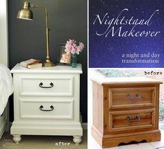 nachttisch restaurieren vorher nachher. Black Bedroom Furniture Sets. Home Design Ideas