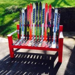 Garden junk ideas old skiis craft u.jpg