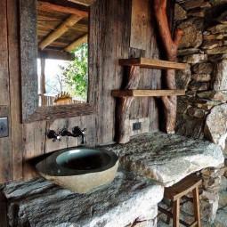Interessante Ideen Fur Rustikale Badezimmer Aus Holz Und Naturstein