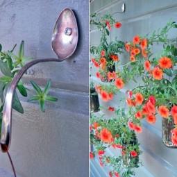 Junk garden art spoon reuse wall ho.jpg