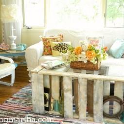 Pallet coffee table painted furniture pallet.1.jpg