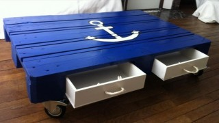 Pallet coffee table with lunger sign and drawers.jpg