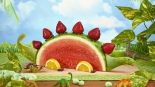 Wassermelone dekorieren ideen selber machen dinosaur.jpg
