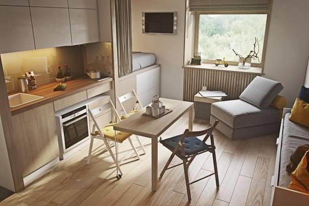 Wie man eine super kleine Wohnung modern einrichten kann ...