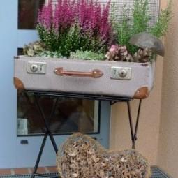 deko aus alten koffern. Black Bedroom Furniture Sets. Home Design Ideas
