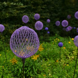Create these wonderful garden decorations with chicken wire and spray paint.jpg