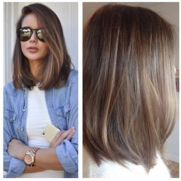 Easy balayage straight lob hair styles women medium haircuts 2017 1.jpg
