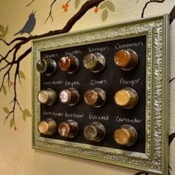 Framed magnetic chalkboard spice rack.jpg