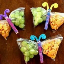 Lustiges essen kindergeburtstag kreative idee schmetterling snack beutel.jpg