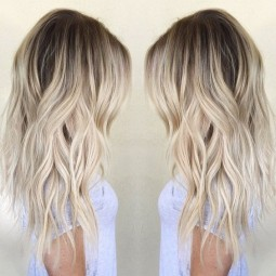 Ombre balayage hairstyles for women girls wavy hair cuts for medium long hair 1.jpg
