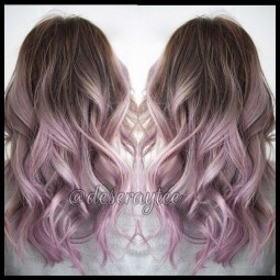 Ombre pastel hair styles pretty silver rose hair color 1.jpg