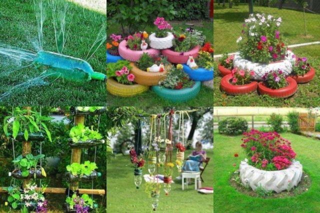 Garten Upcycling Ideen Mit Alte Reifen Und Flaschen Nettetipps De