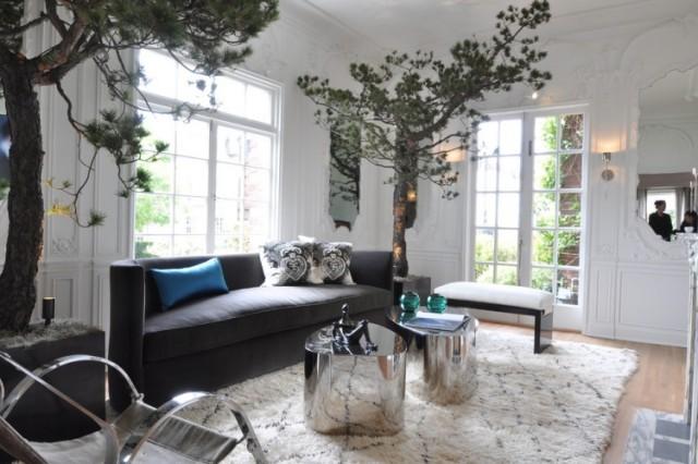 Baum Haus Interior Dekoration Wohnzimmer Nadelbaum Beleuchtung  Kuenstlich