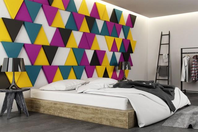 Kreative wohnideen schlafzimmer und coole farbgestaltung mit 3d paneelen e1445944522712.jpg