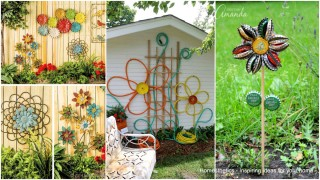Simple low budget diy garden art flower yard projects to do 001 1.jpg