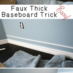 1. add faux thick baseboard with this simple trick 27 easy remodeling projects that will completely transform your home.jpg