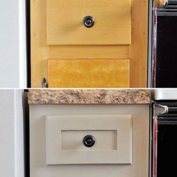 11. update your cabinets with added pieces of molding and trim. 27 easy remodeling projects that will completely transform your home.jpg